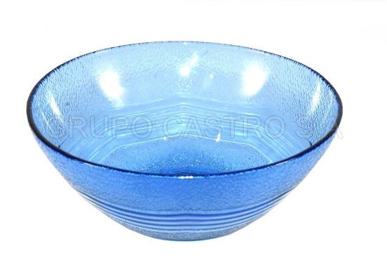"Foto de Dulcera vidrio pequeña azul SB525B 5"""