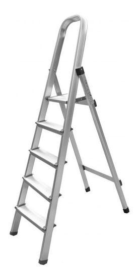 Foto de Escalera aluminio 5 escalones tijereta tipo 2 (1.58 CMS)