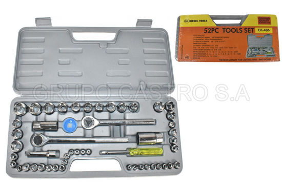 "Foto de SET RATCHET 52PCS 1/2&1/4""&3/8""  DIESEL TOOLS"