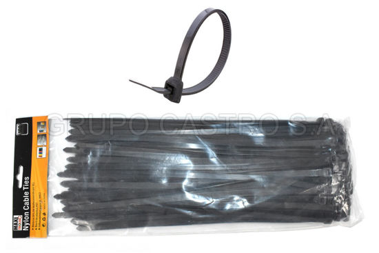 "Foto de Set 100  Zuncho Negro Plast.14"" (8MMX350MM) PH-190018 MAXI TOOLS"