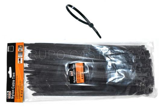 """Foto de Set 100  Zuncho Negro Plast.12"""" (8MMX300MM) MAXI TOOLS"""