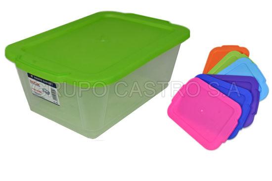 Foto de Caja transparente 4.2ltrs 209 spartaplast 19.5x30x11.5cms