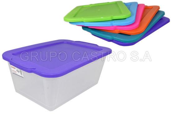Foto de Caja transparente 9.6ltrs 210 spart 25x37.5x15cms