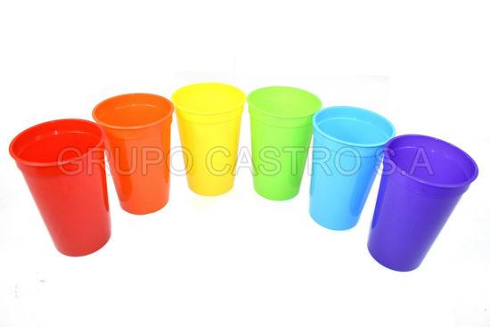 Foto de Vaso moderno solido plástico Spartaplast 17onzas