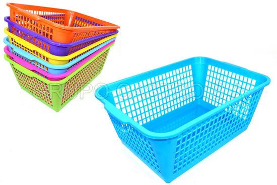 Foto de Canasta rectangular #3 calada spartaplast 0809 31x45.5x19cms 18litros