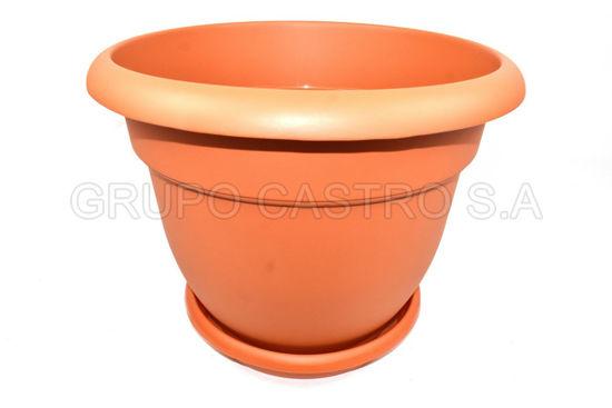 Foto de Macetero c/platera #4 terracota spartaplast 0107 38x31cms 24litros