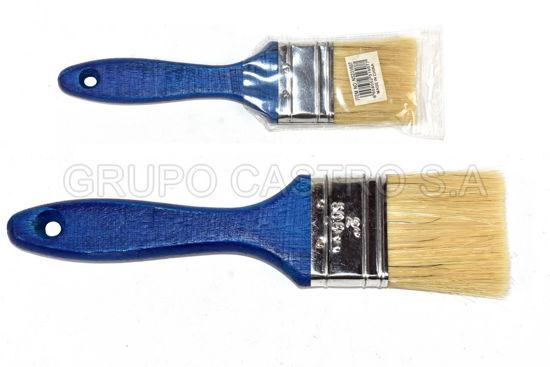 """Foto de Brocha p/pintar 2"""" NS231607 azul pelo amarillo"""
