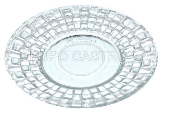 """Foto de Plato p/tortilla vidrio labrado 5.5"""""""