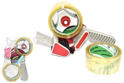 "Foto de Dispensador cinta adhesiva +2 cintas 3/4"" /18mm  Benssini BS-1393"