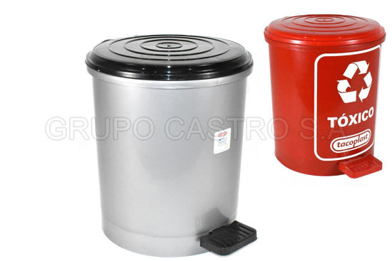 Foto de Basurero pedal  15 litros tacoplast plástico