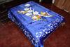 Foto de Valija Cobija  Peluche Matrimonial Reversible 2.40x1.80cm tigre bambu/flores 36-5888