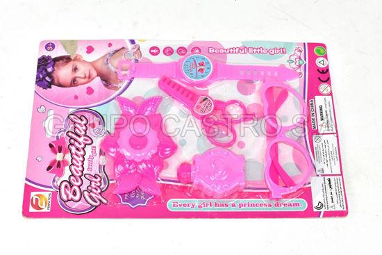 Foto de JUEGO 5 PCS BELLEZA NIÑA 46-B71606 BEAUTIFUL GIRL 29X18.5X3CMS