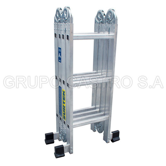 Foto de Escalera aluminio multiposicion EM212 12 peldaños 3.83 mts altura 11.20 KG peso