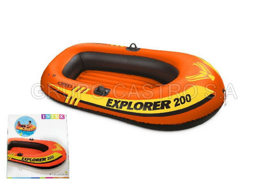 Foto de INFLABLE LANCHA 200 BOTE 58330NP INFLABLE INTEX (185x94x41cm)