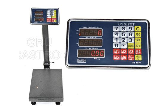 Foto de Balanza electronica metal 100 kgs GY-6996 30X40cms ginypot