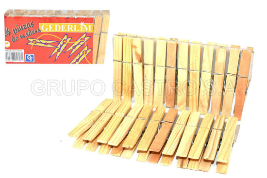 Foto de Prensa p/ropa paquete 24 unds madera PH-YQ7024