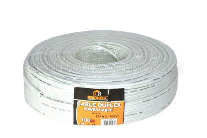 Foto de Cable Electric Duplex 100m 12AWG-600V SB-781 Scanbrik/Brickell Blanco0.2mm*64