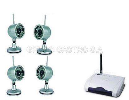 Foto de DVR Receptor 4 Camaras Inalamb.Wireless VR-431-802