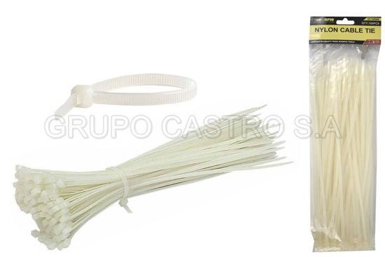"Foto de Set 100  zuncho blanco Plast. 8"" (4.8x200mm) scorpio vc150066"
