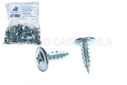 Chapa Tornillo con cintura 3,9/x 13/mm Acero Negro Galvanizado PH2/100/unidades