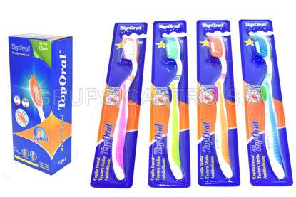 Foto de Cepillo Dental Plastico  TOP-ORAL12 piezas TOP-619