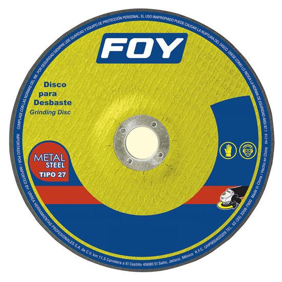 "Foto de Disco corte fino 4-1/2""x7/8""x3mm 143522 abrasivo 27 metal 13300 RPM mega pesado foy"