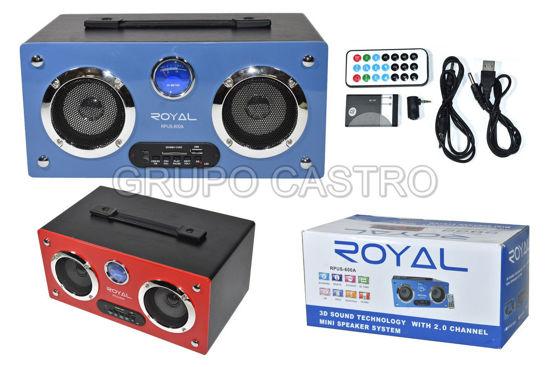 Foto de Ministereo,SD,USB Azul Royal RPUS-600a