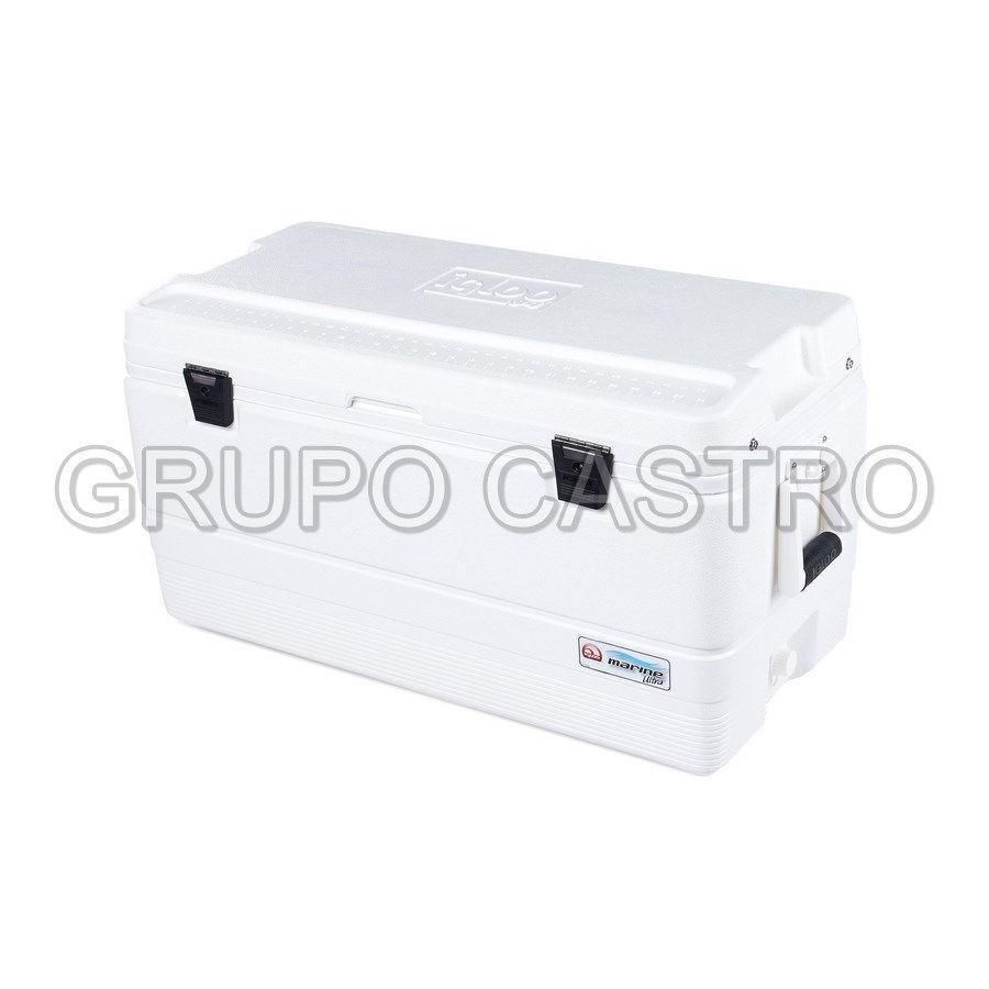 Foto de Hielera igloo 94qt/88ltrs rectangular cooler 83larg x48anch x45alt 00044687 marine white A081816