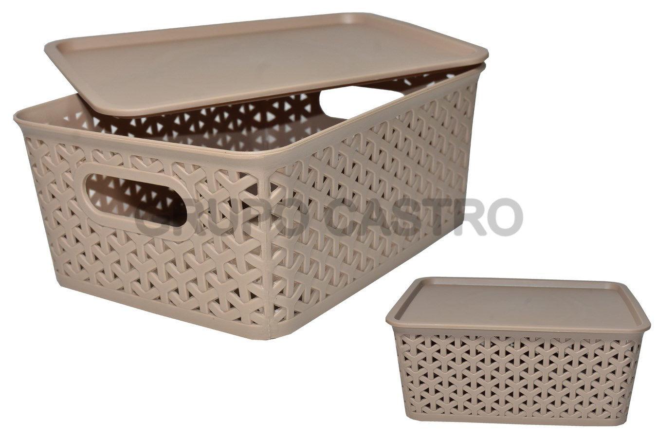 Foto de Caja Ratan 5 ltrs rectangular DY169/4121 18x24x10cms dinasty