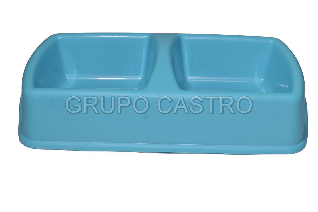 Foto de PLATO MASCOTA 28X15CMS MX-426 DOBLE COMPARTIMIENTO PLASTICO