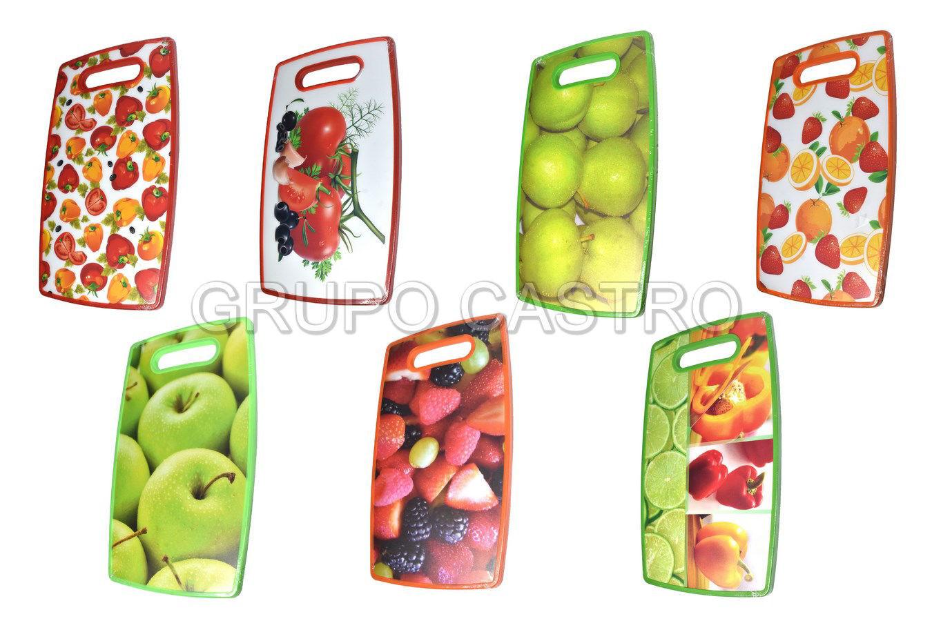 Foto de Tabla picar plastica frutas 36.5x22.X1cms H801/209
