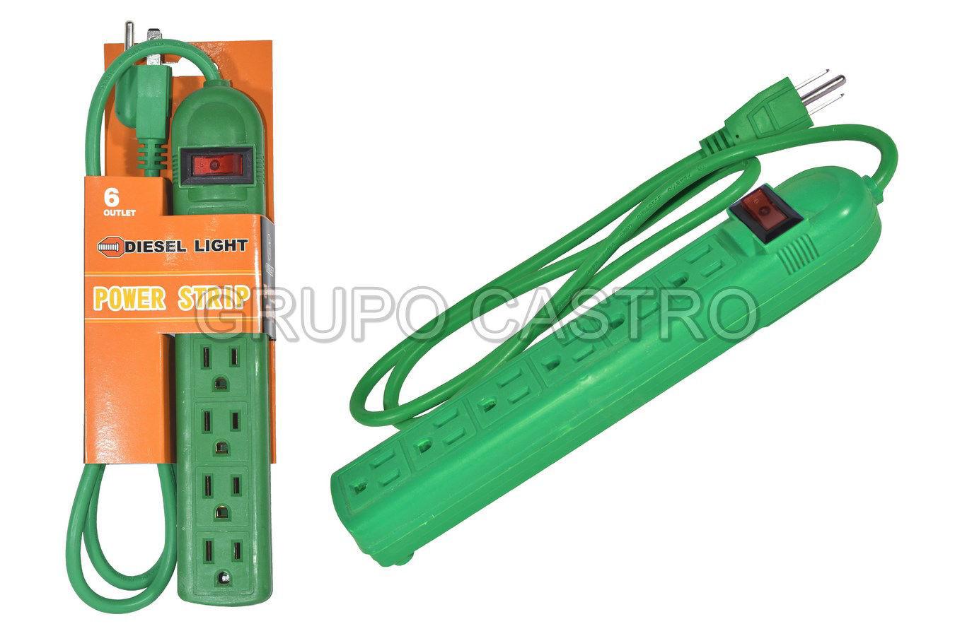 Foto de Regleta 6 diesel lights MP-1020 ES-006C 127V/15A cable 1 MTR