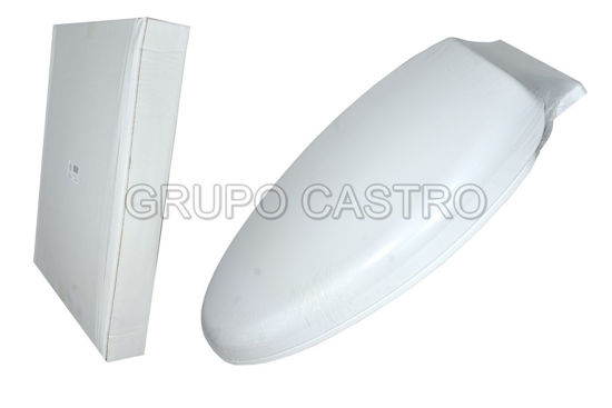 "Foto de ASIENTO INODORO PLASTICO BLANCO Q7-TCS-WL PVC19"" AQUA-Q"