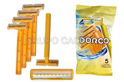 Foto de Set Prestobarba Desech.5und c/lubricante TG708N-5P DORCO blister