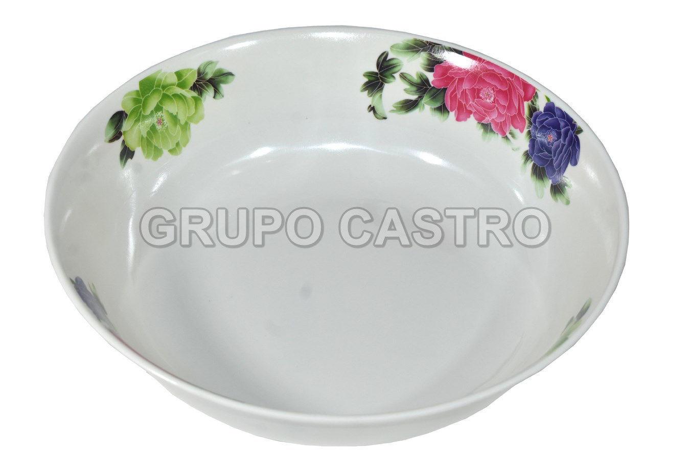 """Foto de Plato sopero melamina decorado 10"""" MU2010/1254"""