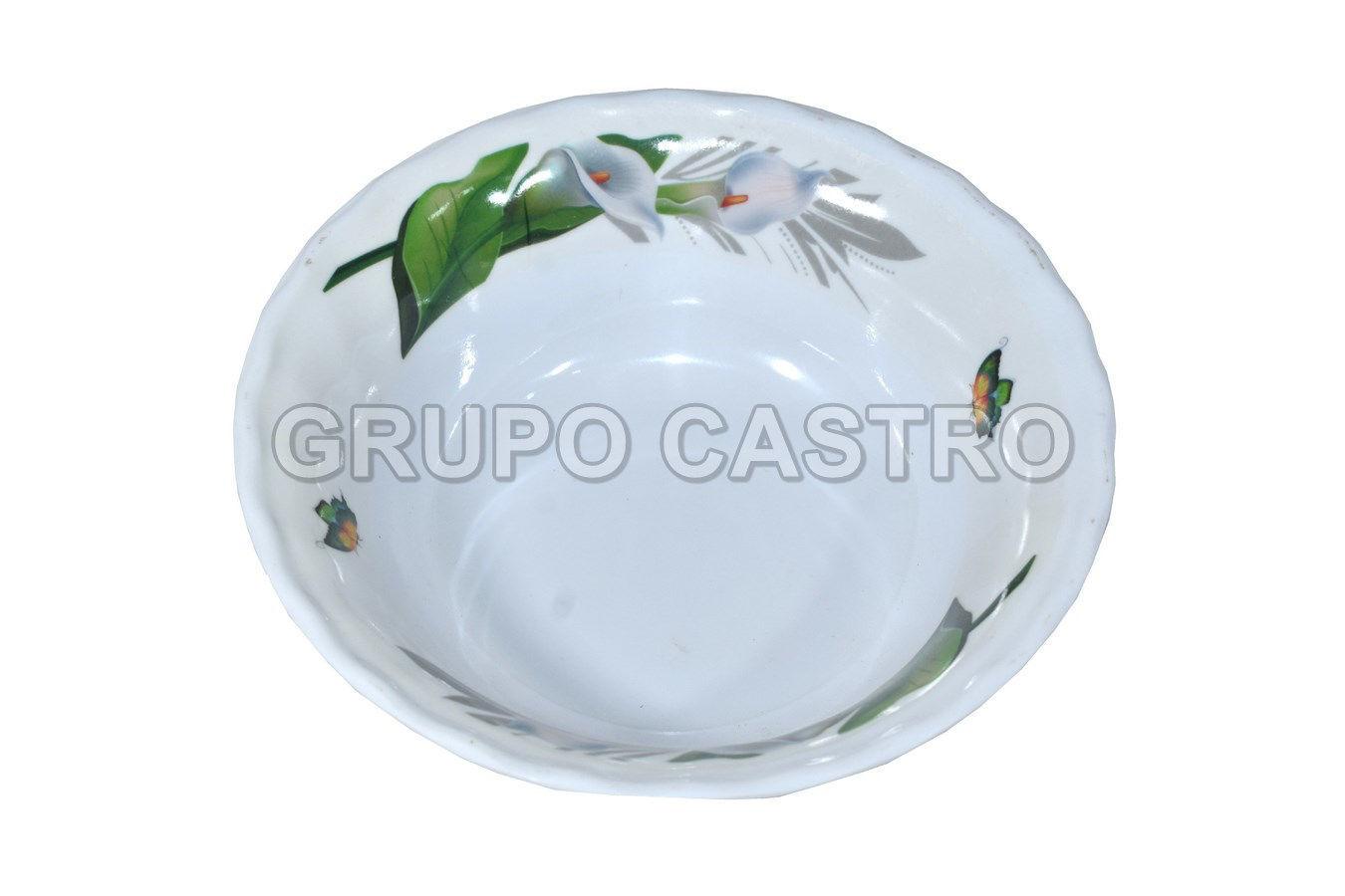 "Foto de Plato sopero melamina decorado 6"" IWB06-A/YE-CC3006"