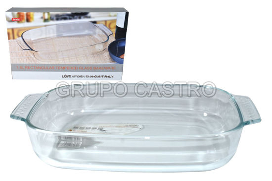 Foto de Bandeja pairex rectangular 1.8ltrs HG-6104 20x30.5cms fenix