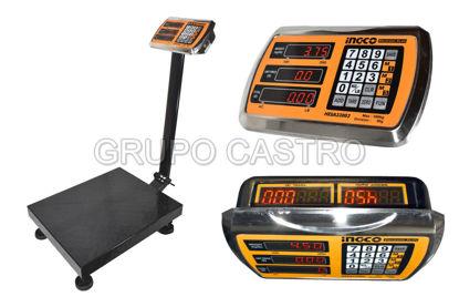 Foto de Balanza electronica metal 300 kgs HESA33003 83ALX40ANX50L cms INGCO