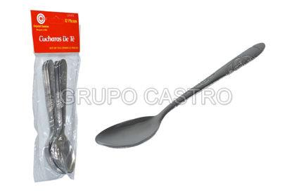 Foto de Cucharita acero 12 pcs LX-912-5/206-3 crystal cuisine