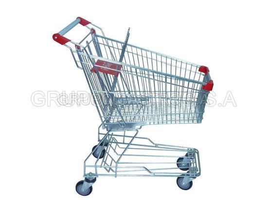 Foto de Carro supermercado metal 971-Y125 125ltrs 99cms altura/55cms ancho/90largo 15.5kgs max moto