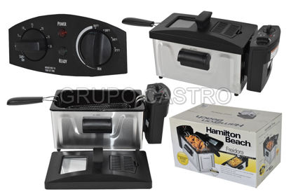Foto de Freidora Electrica Hamilton 1.9ltrs 8tazas HB35030/986-HB35200 acero inox