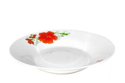"""Foto de Plato porcelana hondo decorado 9"""" H303-900"""