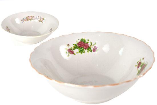 "Foto de Dulcera porcelana grande decorada 9"" 9SP-5360 lotus"