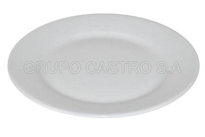 "Foto de Plato porcelana plano blanco 7"" LHC-7RD lotus collection"