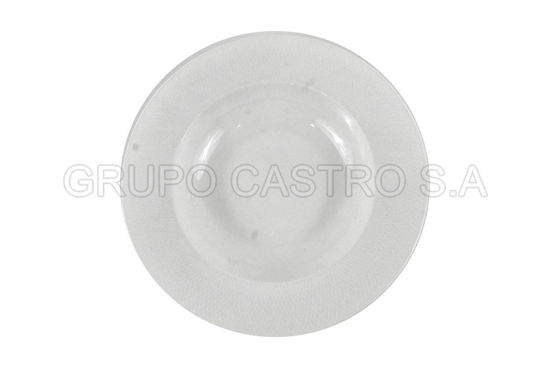 "Foto de Plato porcelana hondo 9"" Blanco LHC-PP9 lotus collection"
