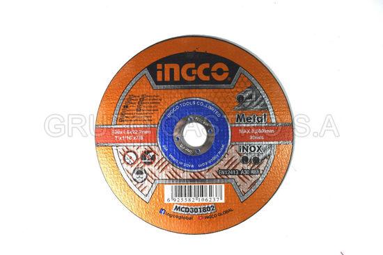 """Foto de DISCO METAL CORTE FINO 7X1/16X7/8""""  INGCO (MCD301802)"""